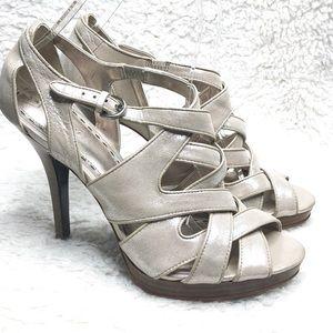6dab9f4173f6 Coach Aenya Metallic Shimmer Platform Shoes